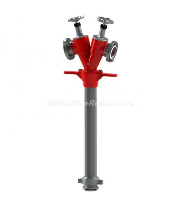 STANDPIPE FOR UNDERGROUND HYDRANT WITH TWO OUTLETS - DN100