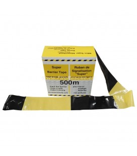 WARNING TAPE YELLOW / BLACK